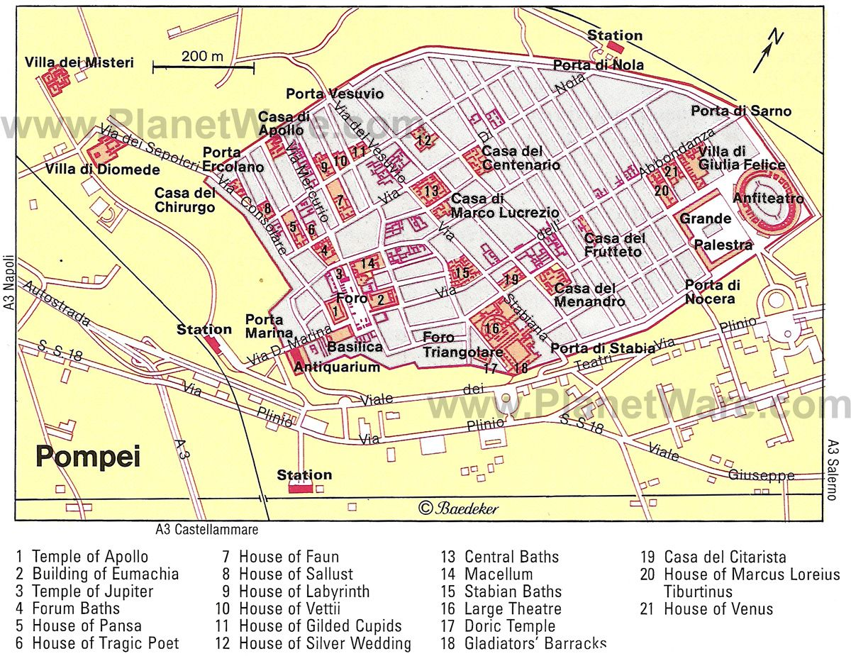 Map Of Pompeii Map of Ancient Pompeii | Pompeii: A Day in a Life | Ancient