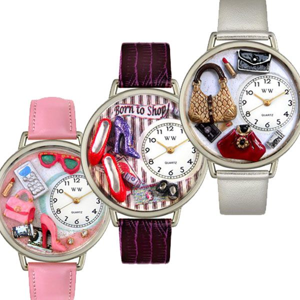 Whimsical Watches for many themes like nurses,I luv shopping, cat lovers, birthdays, and any occasion gift.