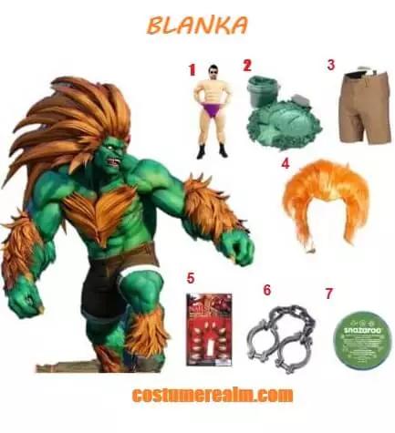 Dress Like Blanka From Street Fighter Diy Halloween Costume Halloween Diy Street Fighter