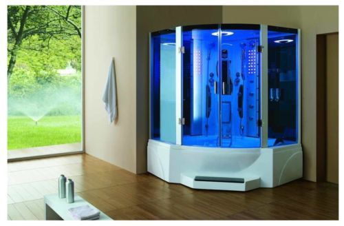 Steam Shower Bathtub Acupuncture Massage Jetted Whirlpool Hot Tub Sauna Spa Steam Shower Enclosure Shower Cabin