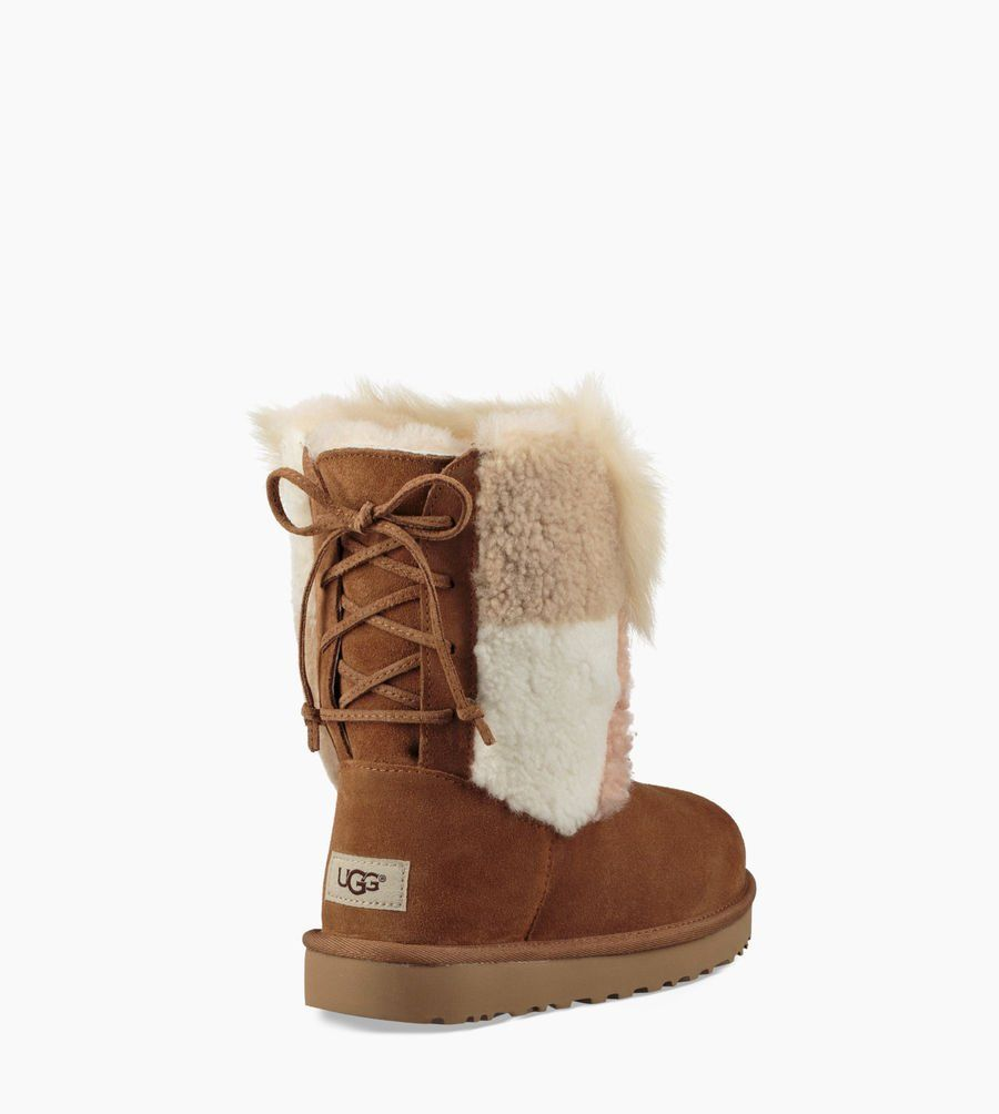 f734eaf4c31 Women's Share this product Classic Short Patchwork Fluff Boot ...