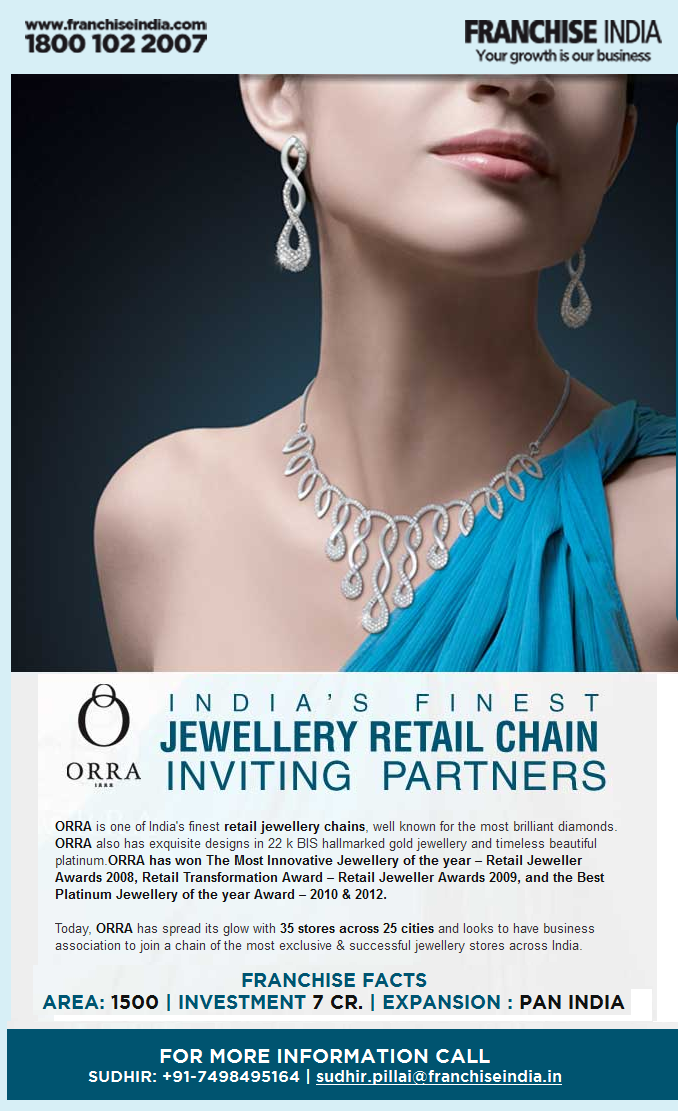 Start your own Jewellery Store ORRA India s finest jewellery
