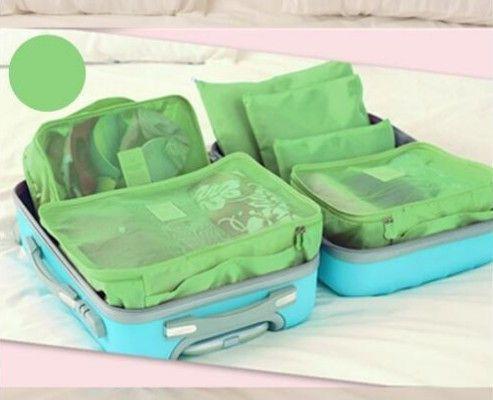 e0f5f9ea8b66 6PCS Set High Quality Oxford Cloth Travel Mesh Bag Luggage Organizer  Packing Cube Organiser Travel