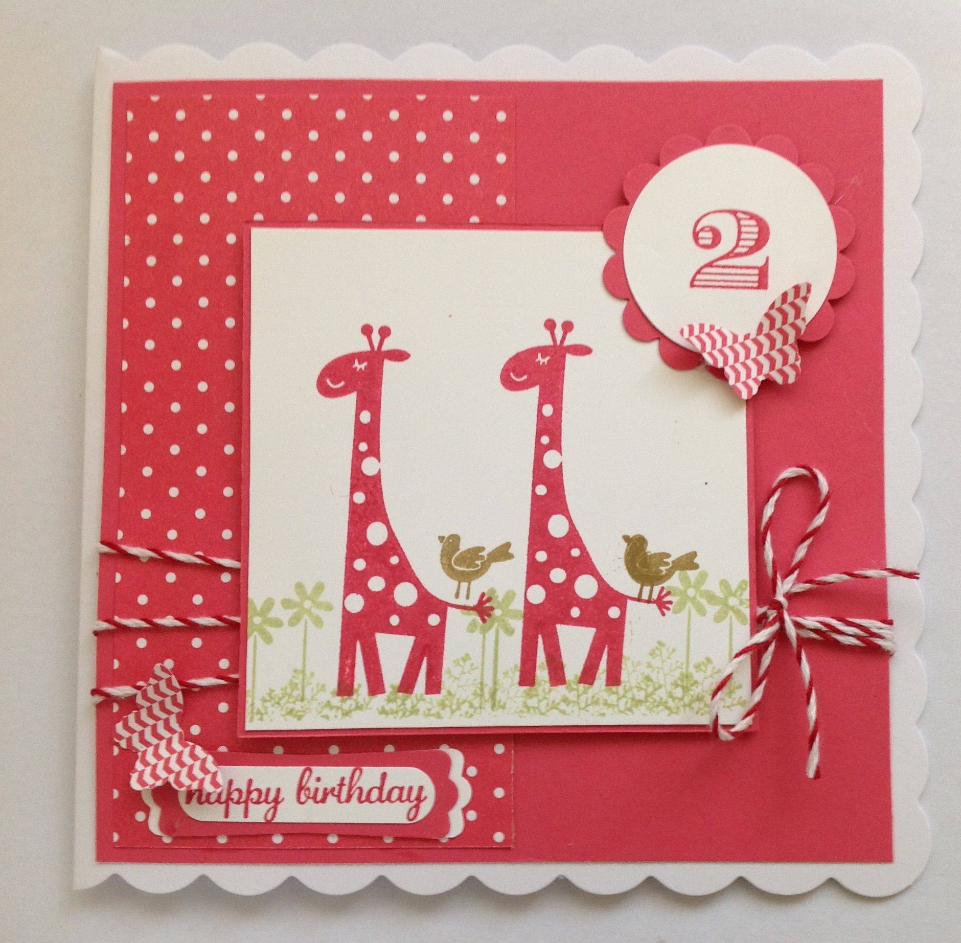 Card Making Ideas For 2 Year Olds Part - 42: Stampin Up Card For 2 Year Old Using DSP, Wild About You Retired Stamp Set