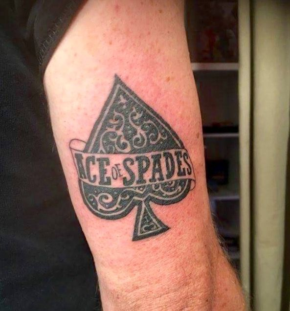Ace Of Spades My First Tattoo Motorhead For Ever Tatouage