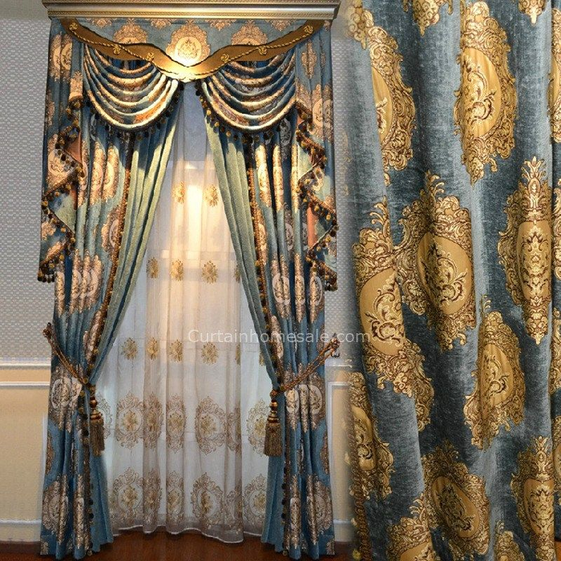 Interesting Blue And Gold Curtains And Blue Gold Curtains Blue And Gold Curtains Gold Curtains Curtains