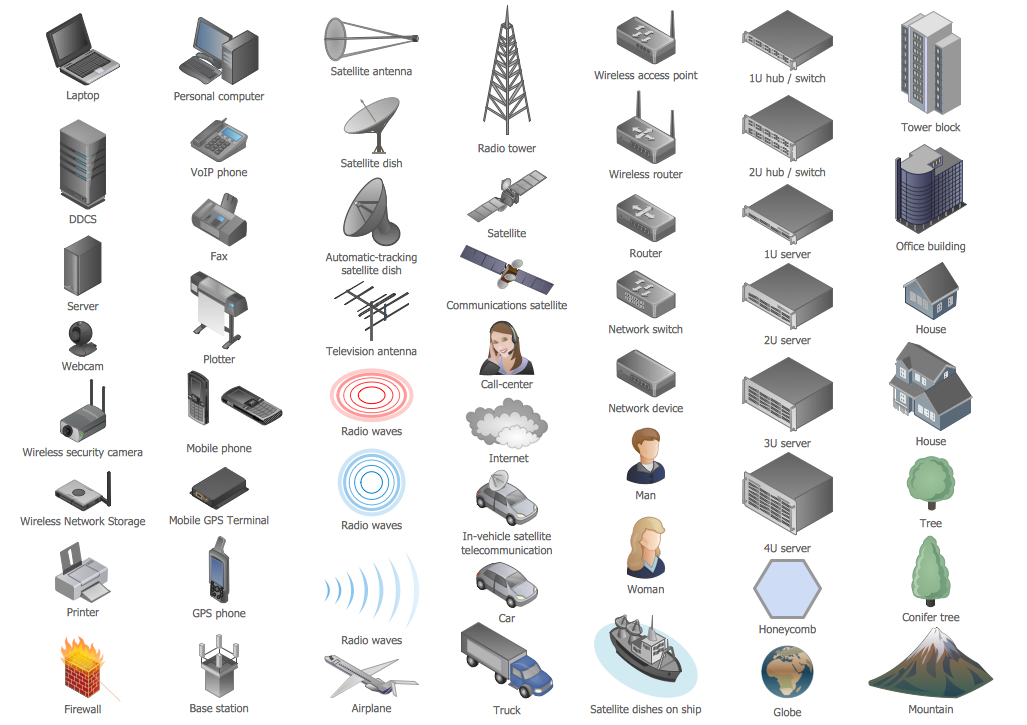 Design elements computers and network isometric computer and image gallery network device symbols image gallery network symbols for powerpoint image gallery network diagram icons network diagram clip gallery ccuart Images