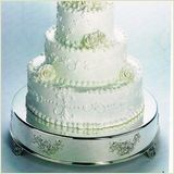 Floral Accent Wedding Cake Stand - save 5% on any order must book online.. use bride5 upon checkout..not valid with any other offer