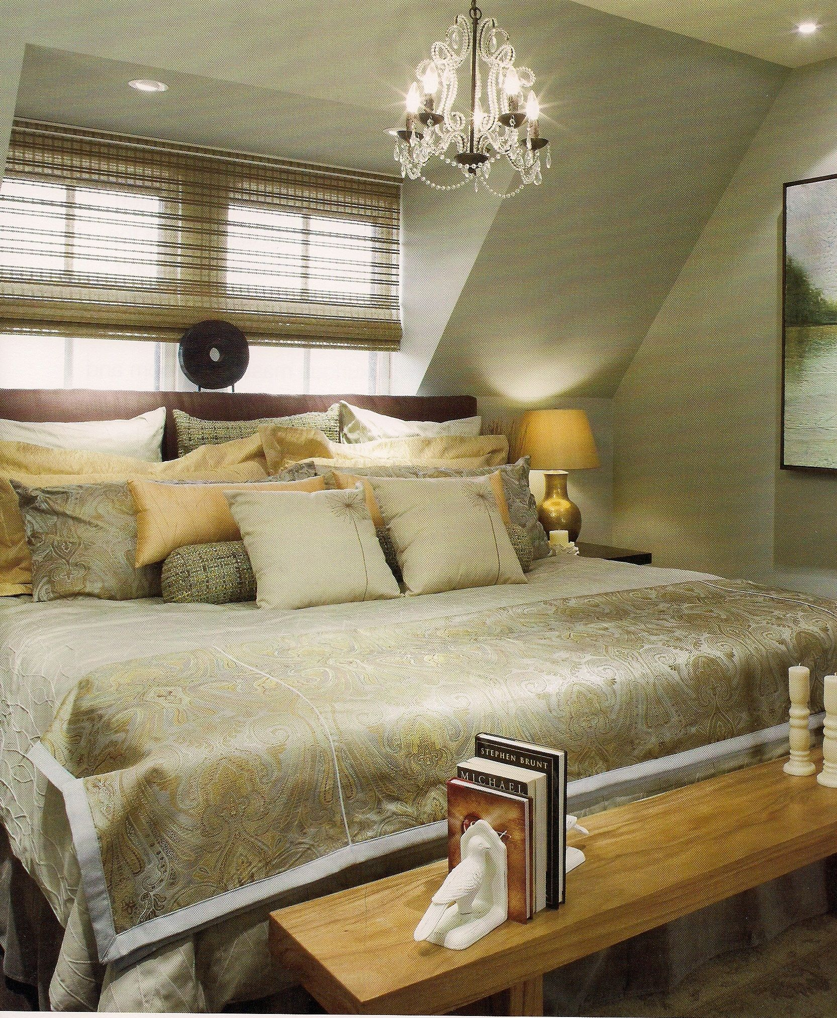 Relaxing master suite from Candice Olson Room colors