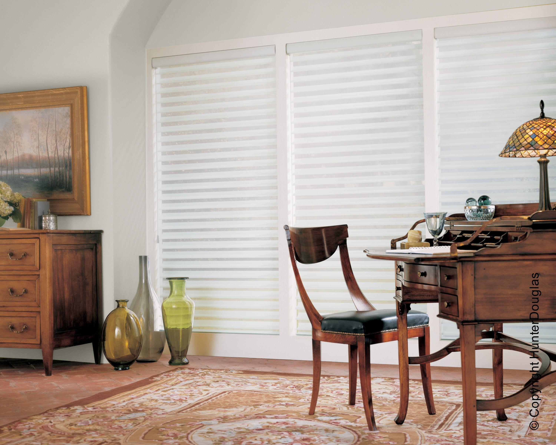 Window coverings of idaho  versátil a cortina silhouette complementou o estilo terroso e