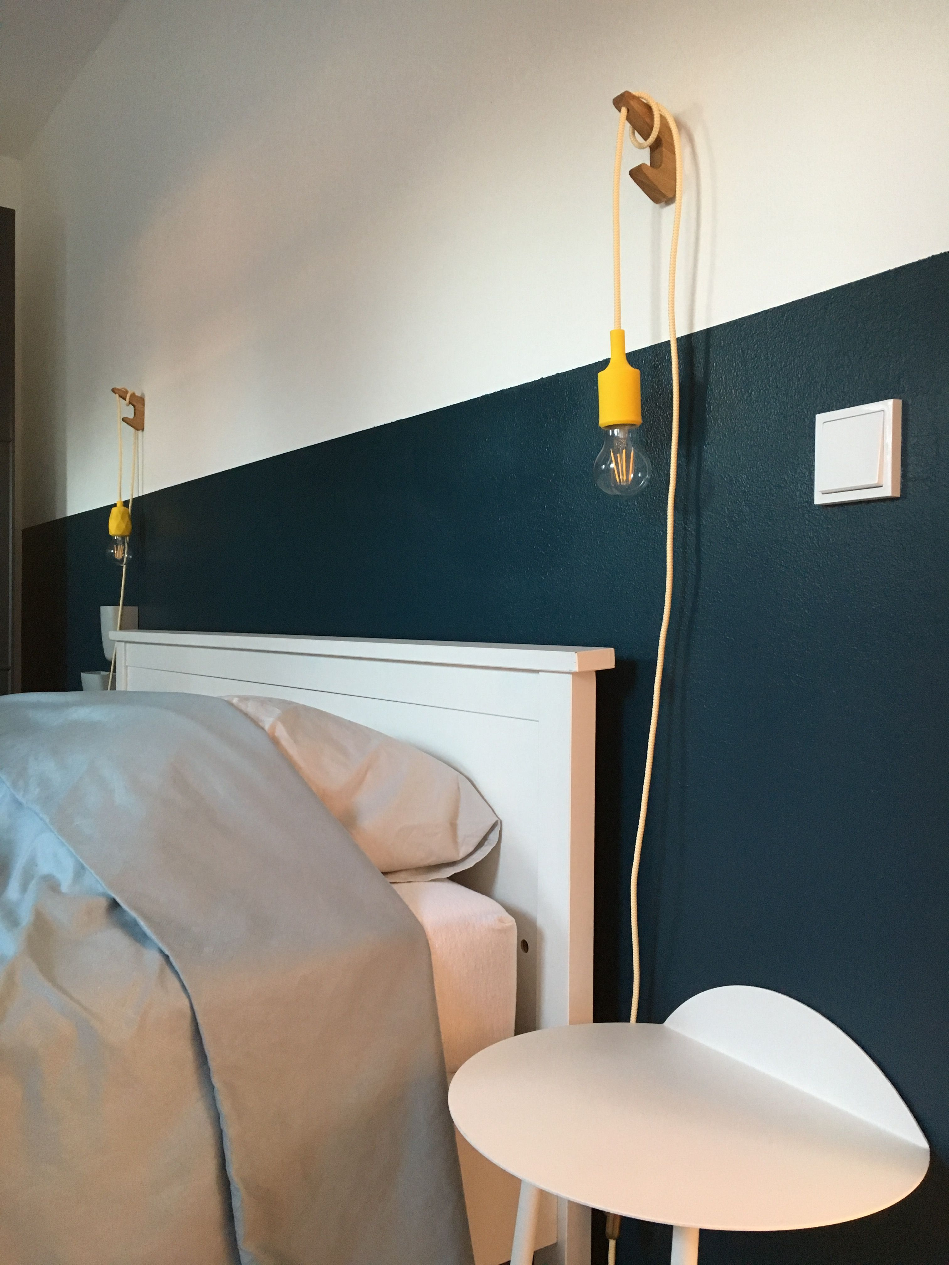 Nachtlampje met snoer van Stoersnoer en wandhaakje via Etsy