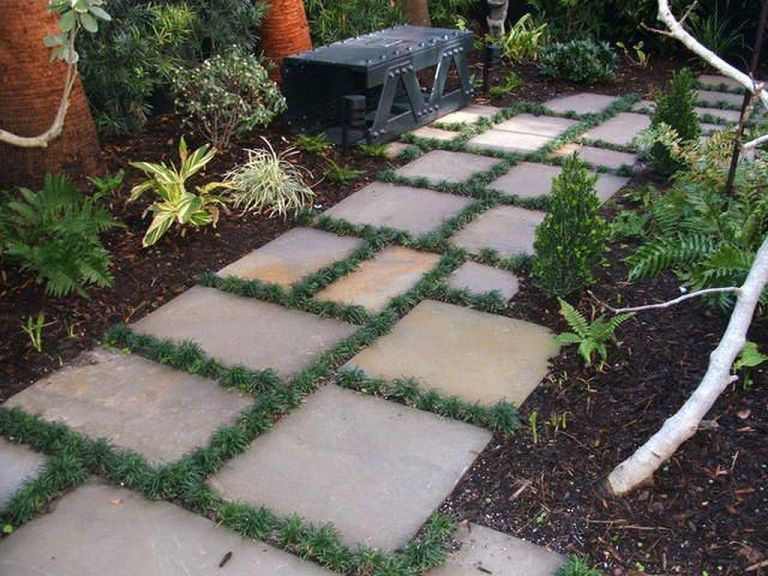 Stepping Stones And Path Combo To Update Your Landscape 3 Garden Stepping Stones Stepping Stone Paths Stepping Stones