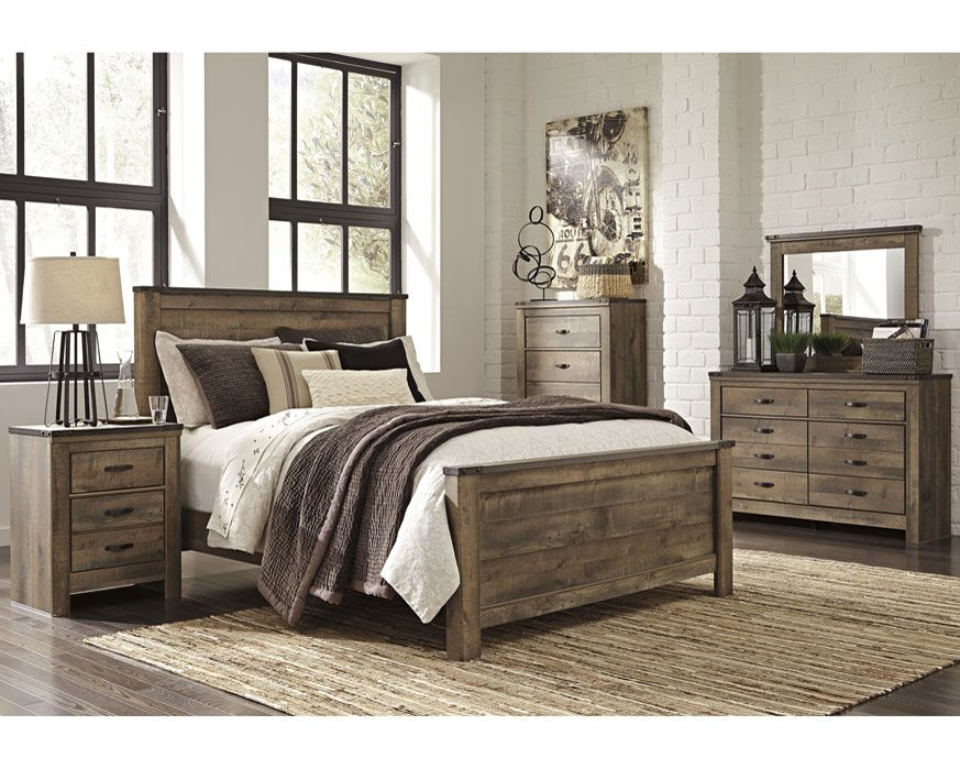 Queen Bedroom Set B446pnl Qbs Trinell Furniture Factory Direct