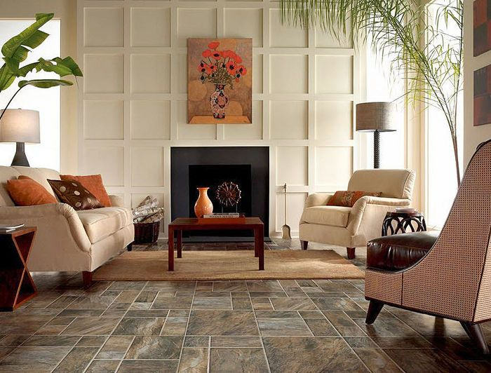 Stone Look Laminate Is Striking For A Room With Plenty Of Natural Light Consider A Darker Floor Or If Natur Best Flooring House Flooring Armstrong Flooring #stone #floors #for #living #room