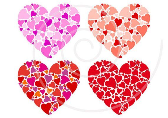 image relating to Printable Red Hearts titled Crimson centre electronic clip artwork fastened for printable moms working day