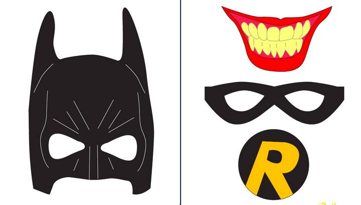 Photobooth de superhéroes con máscaras