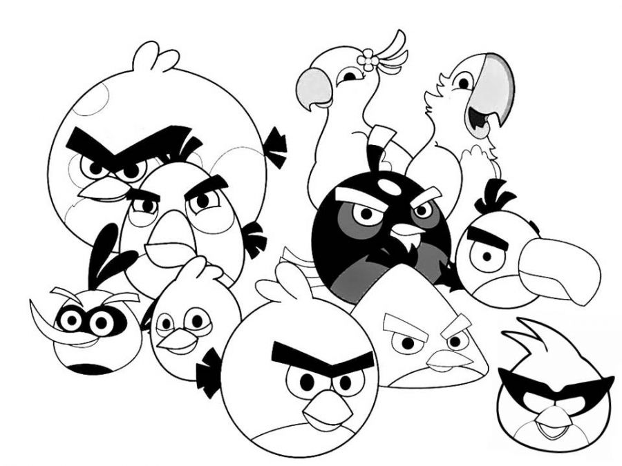 The Angry Birds Family Printable Coloring Pages For Children Letscolorit Com Bird Coloring Pages Angry Bird Pictures Coloring Pages