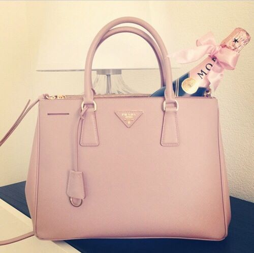 f9f2defafb0e8 Prada handbag in nude color for summer.  prada  nude