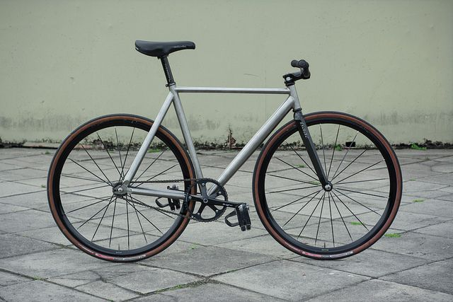 Titanium track bicycle (frame set for sale) | bicycle