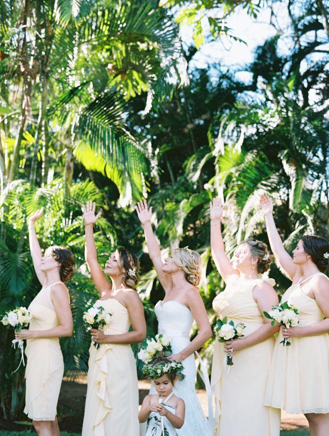 Maui ritual wedding, reach for the stars! http://www.stylemepretty.com/destination-weddings/hawaii-weddings/2016/11/22/yellow-olive-maui-wedding-by-the-sea/ Photography: Wendy Laurel - http://www.wendylaurel.com/ and Jeffery Oltman - http://www.imagesbyjeffrey.com/