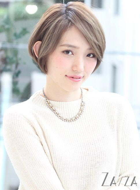 前髪長めの大人ショート(髪型ショートヘア)