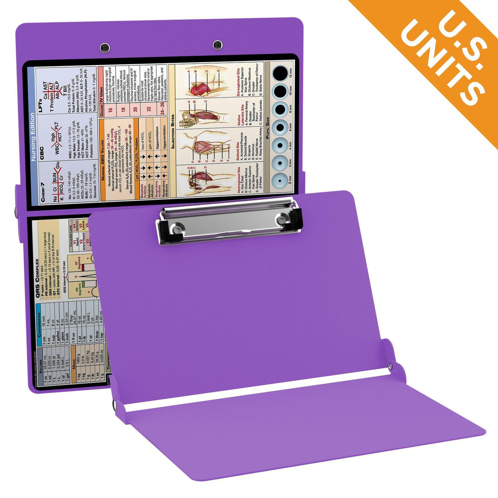 WhiteCoat Clipboard - LILAC - Nursing Edition - Full size nursing pocket clipboard from WhiteCoat Clipboards.