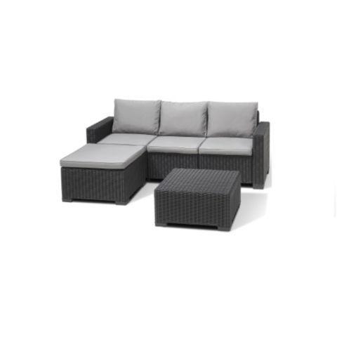 Tesco Direct Allibert California Corner Sofa Table Graphite Corner Sofa Table Furniture Outdoor Sectional Sofa