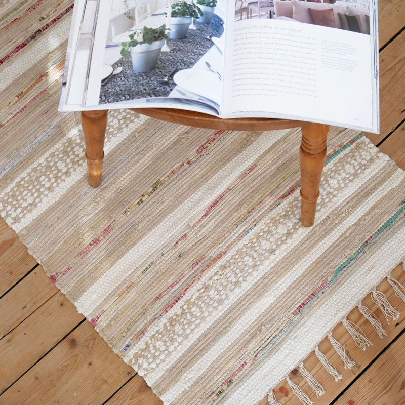 Sigrid Striped White And Beige Floor Runner From Skandihome Rugs Home Accessories For A