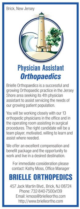 Physician Assistant Orthopaedics Job In Brick New Jersey  News