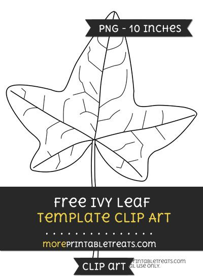 Free Ivy Leaf Template - Clipart Free Clipart Files Pinterest - leaf template