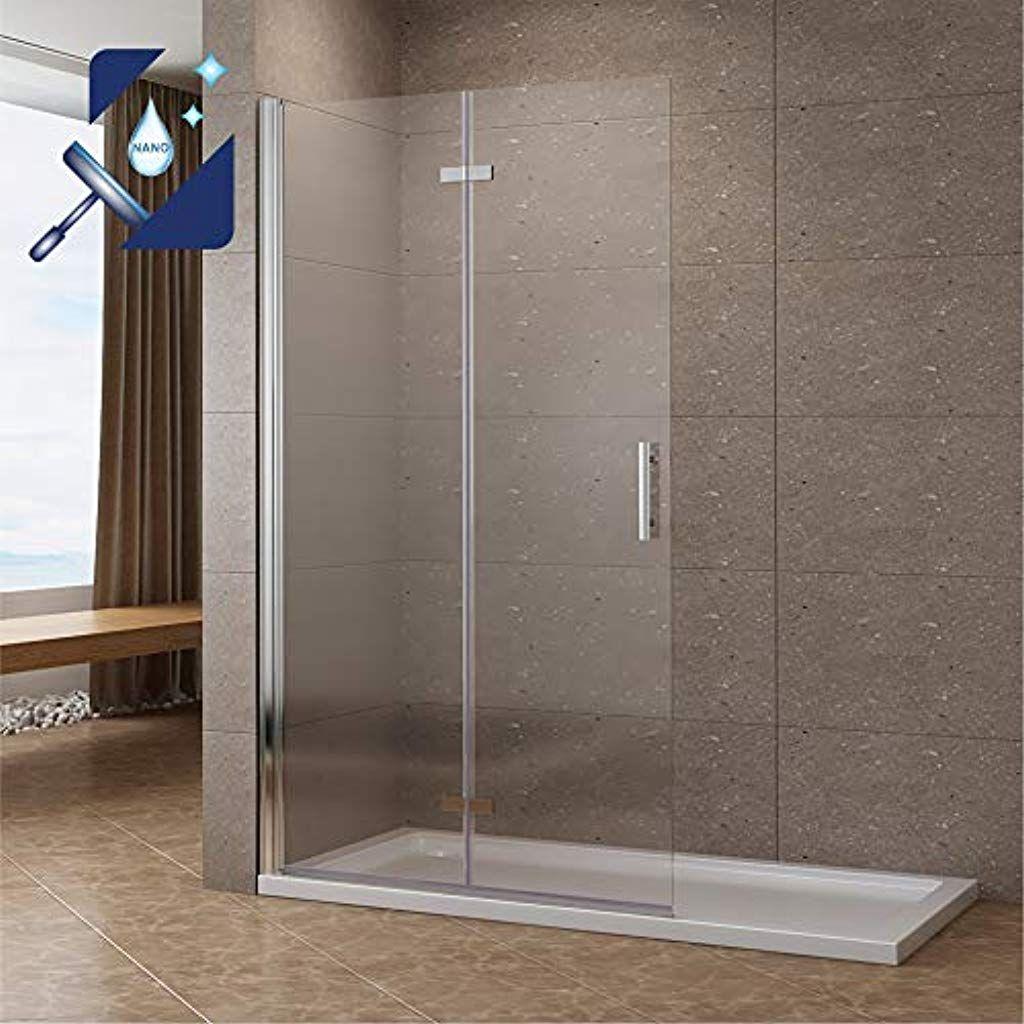 Aquabatos 95 X 195 Cm Duschabtrennung Faltbar Walk In Klappbare Duschwand Glas Duschtrennwand Pendeltur Duschtur Aus 6 Mm Esg G In 2020 Duschabtrennung Duschtur Dusche