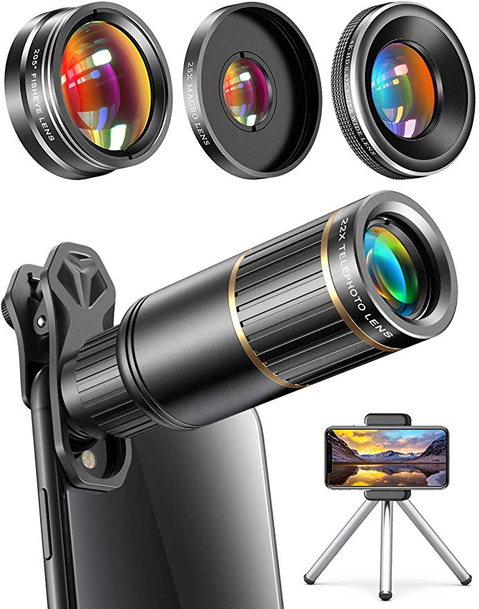 Amazon Com Copedvic Phone Camera Lens Phone Lens For Iphone Samsung Pixel Android 22x Telephoto Lens 4k Hd 0 67 Phone Camera Lens Phone Lens Smartphone Lens