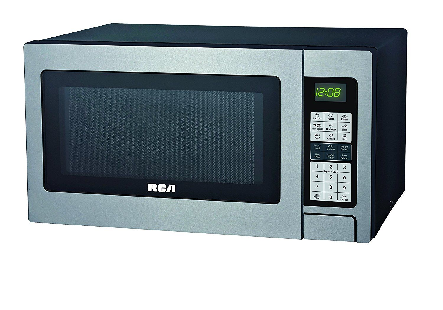 Amazon Com Rca Rmw741 0 7 Cubic Foot Microwave Stainless Steel