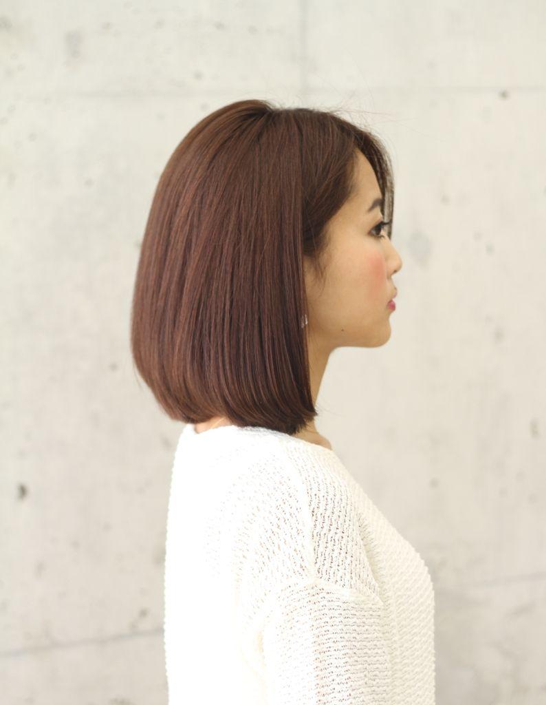 縮毛矯正 前下がりボブ Ke 346 ヘアカタログ 髪型 ヘアスタイル
