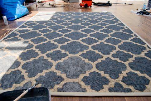 Painted Egeby Rug Painted Rug Ikea Carpet Diy Carpet