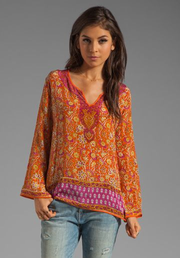 Tolani In Fuchsiaorange Revolve Rita Blouse Free Clothing At 4qrxa4tEw