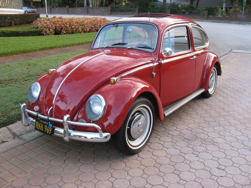 Volkswagen Beetle 1300 VW Cool 1966 Vintage Poster