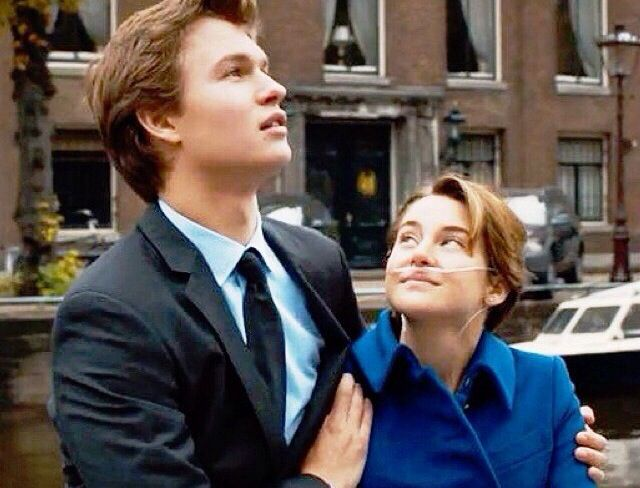 Ansel Elgort  Shailene Woodley in The Fault In Our Stars {movie}