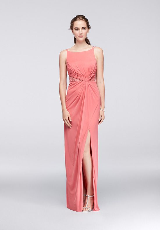 Strappy Sheath Bridesmaid Dress   Style F19418 by David\'s Bridal ...