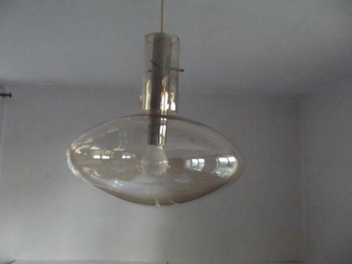 Badezimmerlampe Decke ~ 60er designer glas decken lampe amber bubbel rauch temde limburg