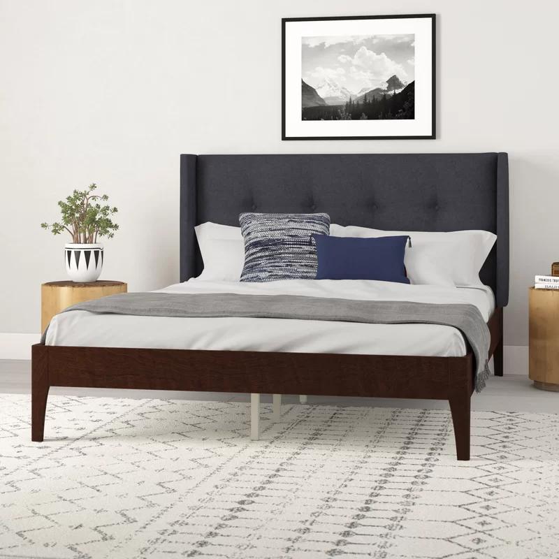 Meryl Queen Upholstered Platform Bed in 2020 Upholstered
