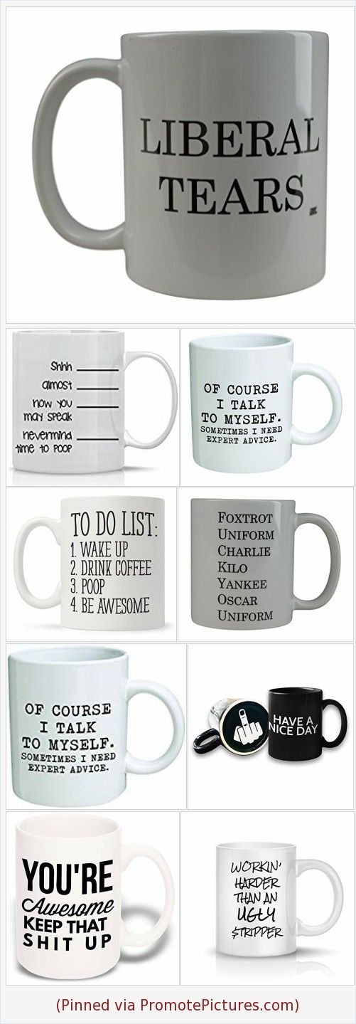 Amazon 10 Funny Coffee Mugs for Men - Oh How Unique! #funnycoffeemugs