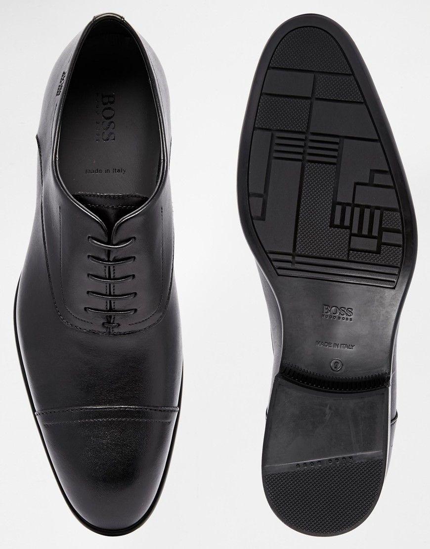 df7d9a755f9 Hugo Boss Black Urannio Oxford Toe Cap Shoes | mens cloths | Shoes ...