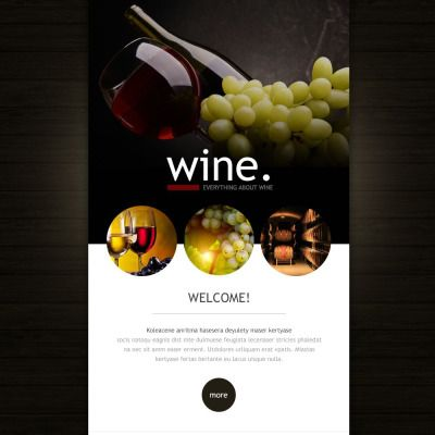 Wine Responsive Newsletter Template  Newsletter Templates And Template