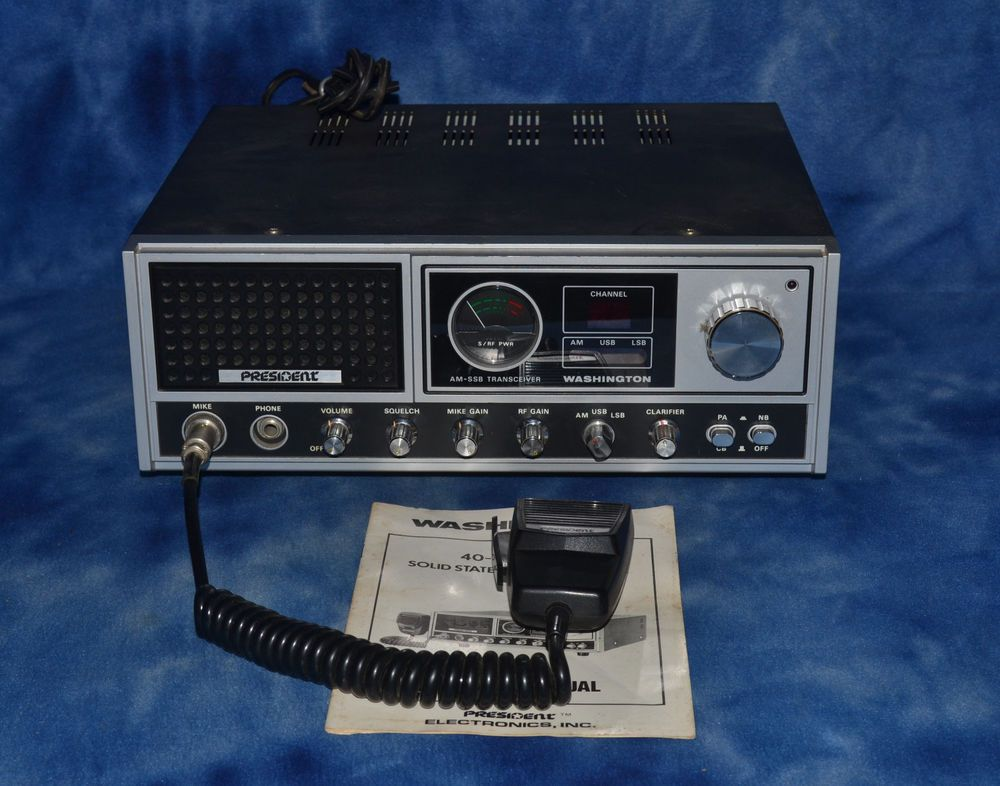 PRESIDENT WASHINGTON CB BASE RADIO AM SSB WITH ORIGINAL