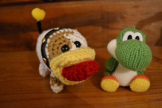 Amigurumi Yoshi Tutorial : Crochet yoshi s woolly world yarn yoshi amigurumi