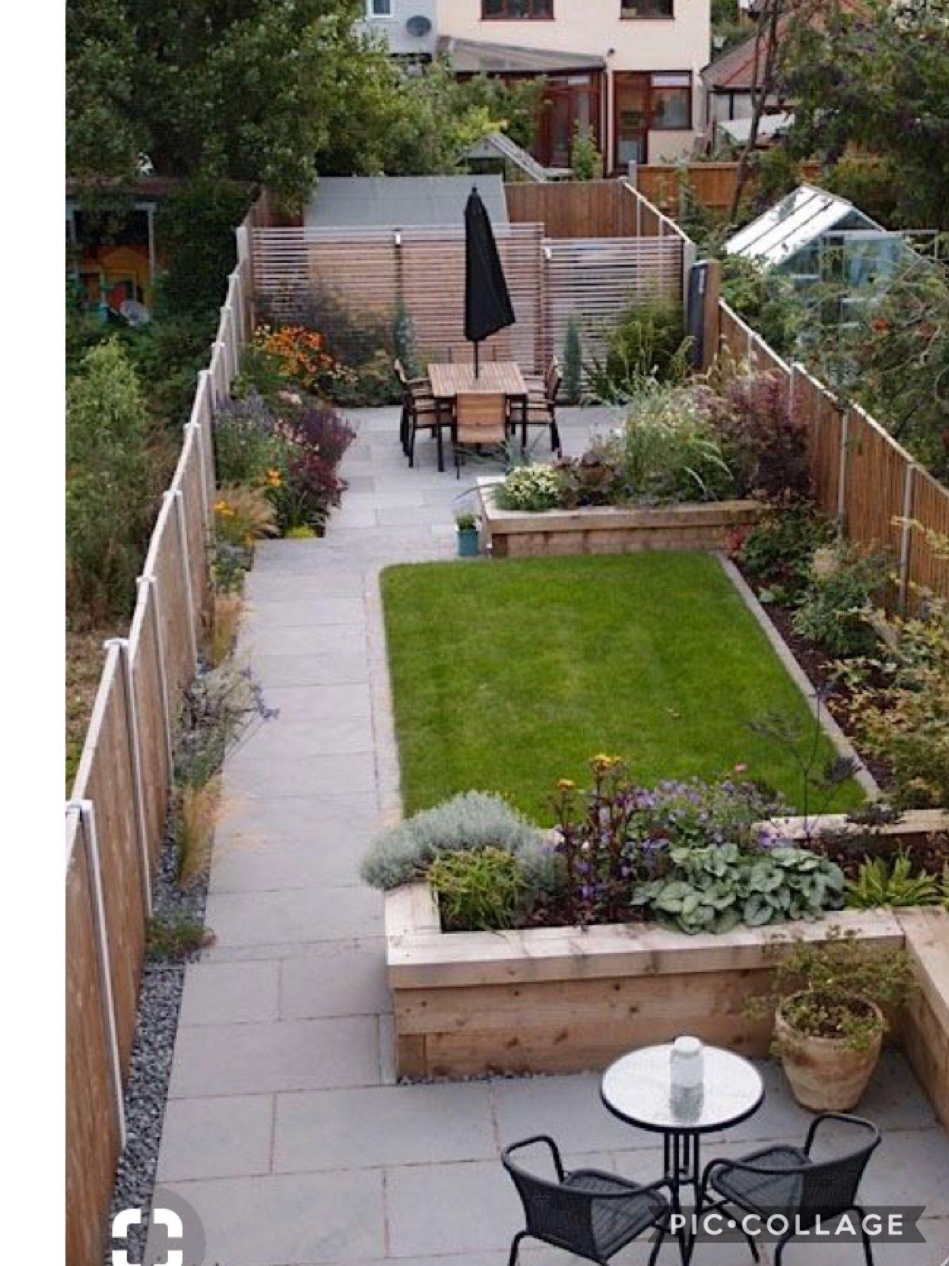 Fenced Townhouse Hard Idea Small Garden Design Small Backyard