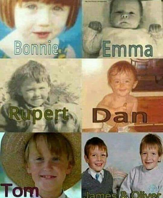Hp Cast As Babies Toddlers Harry Potter Cast Harry Potter Actors Harry Potter Series