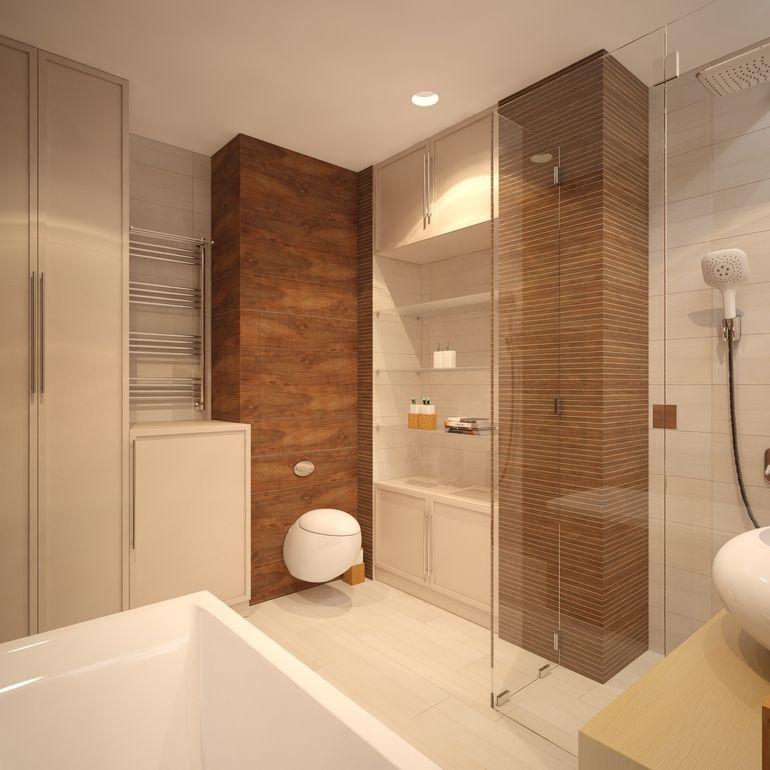 Imagens Pisos Banheiro : Banheiros decorados com porcelanato que imita madeira