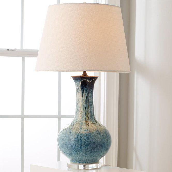 Indigo Drip Ceramic Table Lamp Lamps Living Room Table Lamps Living Room Ceramic Lamp